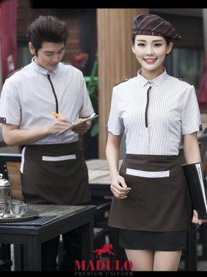 May đồng phục phục vụ đẹp